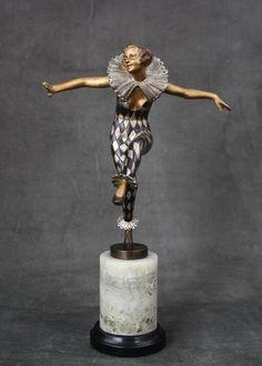 A stunning Art Deco   Austrian bronze figure signed Barner (Lorenzl),  circa 1930.