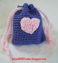 Jaime of All Trades: Crochet Valentine's Day Treat Bags