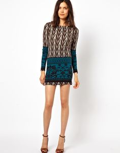 Le Ciel | Le Ciel Printed Sweater Dress at ASOS
