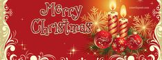 Merry Christmas Candles Facebook Cover CoverLayout.com