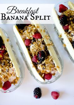 breakfast banana split