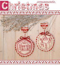 Santa Ornament. - Red Brolly