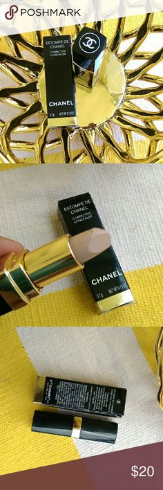 """Chanel Corrective Concealer Estompe de Chanel Corrective Concealer  Size: 0.13 oz  MY PHONE FALL ON IT ???????? WHILE TAKING A PICTURE OF IT and it HAS NEVER BEEN USED ??  """" Concealer with velvety texture camouflages blemishes, under-eye circles and imperfections. Swivel up, stroke on, and blend with fingertips."""" CHANEL Makeup Concealer"""