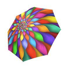 Rock White Black Marble fashion print cute Windproof automatic tri-fold umbrella sun UV protection Sun umbrella