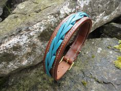 Conker and Turquoise Fancy Laced Collar