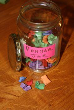 Ideas for creating a Prayer Jar - Treasuring His Commands