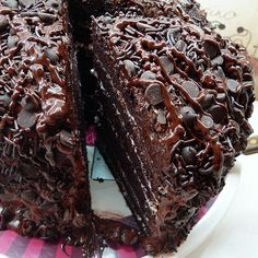 Six Layer Chocolate Mocha Cake Recipe from Grandmother's Kitchen ... Very chocolate, Very decadent!
