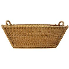 Pre-Owned 1940s French Willow/Wicker Market Basket ($349) ❤ liked on Polyvore featuring home, home decor, small item storage, decorative accessories, brown boxes, handmade woven baskets, french home decor, french boxes and wicker baskets