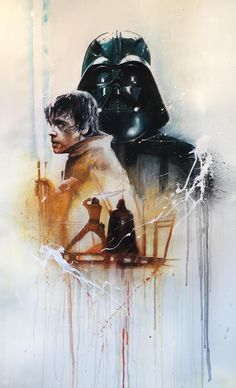 Luke Skywalker/Darth Vader by Rob Prior.