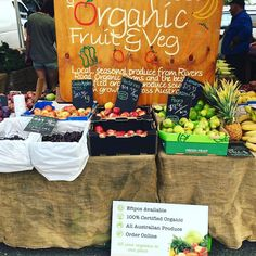 We're all set up for an organic-tastic Frenchs Forest market today. Looking forward to seeing you all in person! Swing by for your week's supply of fresh organic vegetables fruit and delicious organic baked goods.  Shop online too: www.onetable.life #organic #organiclife #organicliving
