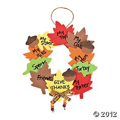 Wreath Of Thanks Craft Kit - Oriental Trading