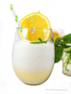 Healthier Clean Eating Orange Julius recipe. Refreshing and light, cool refreshment for a hot summer day. Sweetened w/stevia or organic agave nectar.