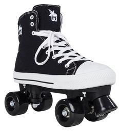 Rookie Canvas High Rollerskate - Black
