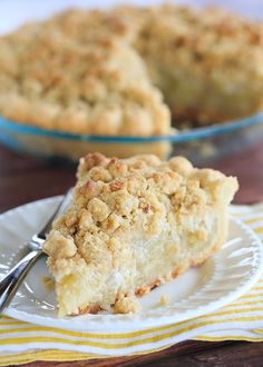 A fabulous Dutch apple pie - flaky crust piled high with apples and sprinkled with streusel.