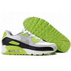 f165edc393cf Ken Griffey Shoes Nike Air Max 90 White Light Grey Black Light Green  Nike  Air Max 90 - Nike Air Max 90 White Light Grey Black Light Green shoes  featuring ...