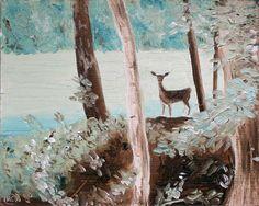 Eye contact in the wood ~ Roberta Cortese Big Canvas, Vienna, Moose Art, Paintings, Eyes, Wood, Animals, Inspiration, Madeira