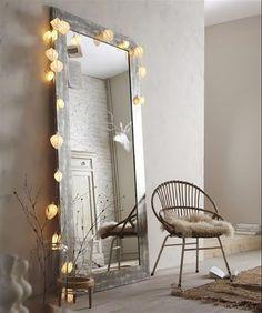 Espelho vertical na decoração