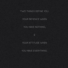 Those 2 things! Great quote.