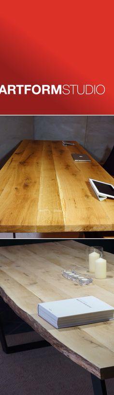 Contemporary solid oak tables