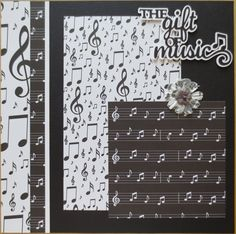 Music 12x12 double page scrapbook layout scrapbooking music 12x12 double page scrapbook layout by twocraftycreations pronofoot35fo Gallery
