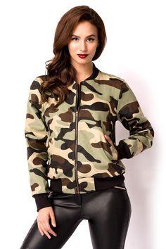 Casual Wear, Military Jacket, Bomber Jacket, Army, How To Wear, Medium, Fashion, Camo Colors, Long Sleeve
