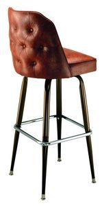 Buttoned Bucket Bar Stool - not a fan of the chrome, but otherwise this is great