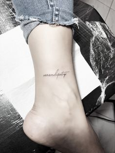 Fine Line Serendipity Tattoo von - i n k . - Fine line Serendipity tattoo by – i n k – Fine Line - Kpop Tattoos, Army Tattoos, Mini Tattoos, Trendy Tattoos, Body Art Tattoos, Sleeve Tattoos, Tatoos, One Word Tattoos, Ocean Tattoos