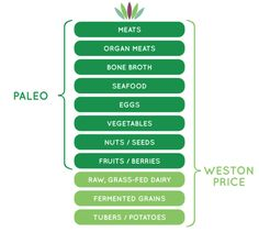 PALEO VS. WESTON A PRICE diets