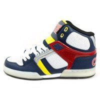 Osiris NYC 83 Shoes Navy Yellow Red £75