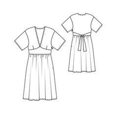 Chiffon kimono dress td (cost $5.40. FTMK)
