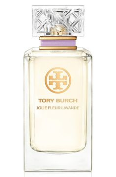 Jolie Fleur Lavande captures the magnificent purple color and calming aroma of lavender in Tory Burch's garden in a beautiful glass bottle.