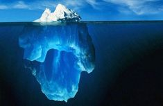 Tip of the Iceberg! We see only about of an iceberg.the rest is underwater hence the reason the Titanic could not see the iceberg. Really scary. All Nature, Amazing Nature, 4 Image, Glaciers Melting, Cool Photos, Beautiful Pictures, William Blake, Illuminati, Natural World