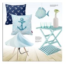 """""""Coastal Decor"""" by lovethesign-eu ❤ liked on Polyvore featuring interior, interiors, interior design, home, home decor, interior decorating, iittala, Moustache, Blue and Home"""