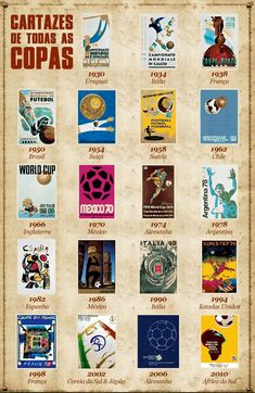 Official World Cup Posters Retro Football, Football Design, Football Art, World Football, Soccer World, Vintage Football, Football Posters, Football Boots, Soccer Art