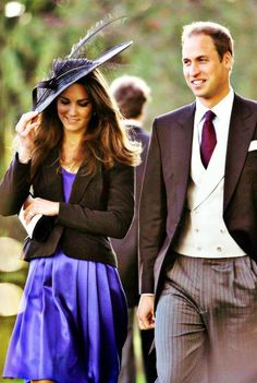 Kate Middleton and Prince William attending a wedding for a friend Prince William And Catherine, William Kate, Princess Kate, Princess Charlotte, Duke And Duchess, Duchess Of Cambridge, Windsor, Royal Fashion, Style Fashion