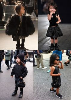 Alexander Wang's niece. I've pinned a photo of her before, but i mean, how can you not?! Adorable beyond measure! <3 When I eventually have kids, I hope I have at least one girl...so I can dress her (and myself) like this!
