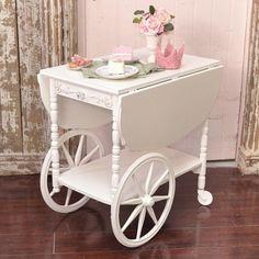 White Shabby Tea Cart