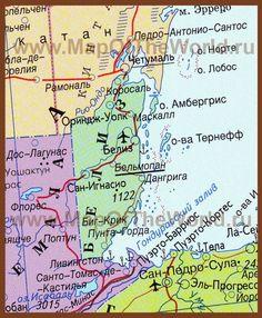 Карта Белиза на русском языке