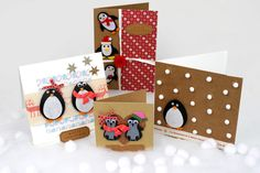 Let your Christmas cards get crafty with a cute penguin card. Adorable to anyone you want to send it to, make it personal by sending to a couple you know!