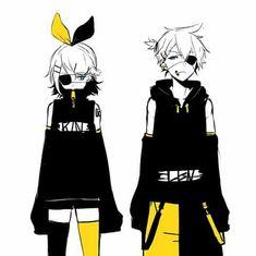 Rin & Len, black & yellow