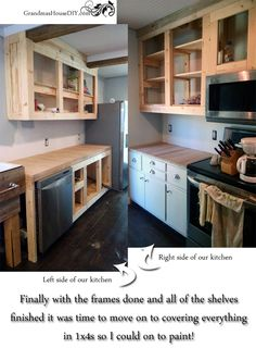 How To DIY Build Your Own White Country Kitchen Cabinets Part 74