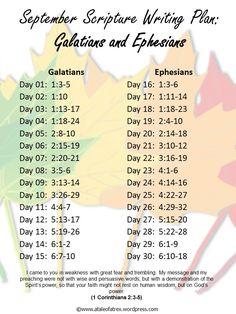 September Scripture Writing-Galatians Ephesians