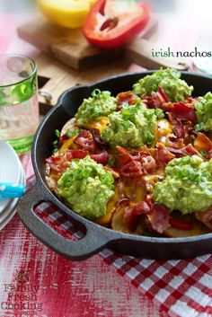 Irish Nachos {Absolutely Avocados | Cookbook Giveaway} | FamilyFreshCooking.com
