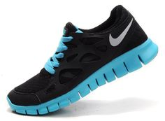 3fff3ec73d33 Latest Listing Womens Nike Free Run 2 Black Silver Tide Pool Blue Shoes The  Most Lightweight Shoes