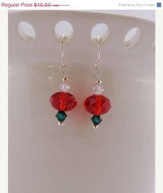 Sale  Christmas Earrings  Gift Idea by kitscreations on Etsy, $11.25