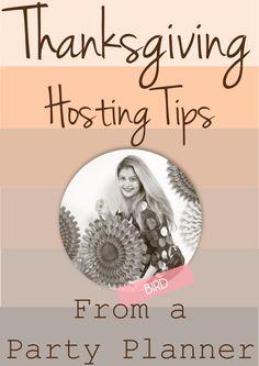 Thanksgiving hostessing tips