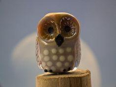 Hans lampwork owl bead sra by DeniseAnnette on Etsy, $15.00