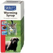 Beaphar Worming Syrup for Kittens and Puppies     Chocolate-flavoured syrup for puppies and kittens. This product is suitable for puppies, dogs, kittens and cats. Effective against roundworms. Multi-use pack, suitable for treating whole litters and mothers. Also suitable for older pets that do not like to take tablets.     £2.77   www.thepetmedicinecompany.co.uk/cat/breeding/Beaphar-Worming-Syrup-for-Kittens-and-Puppies-45ml-BEA012.php