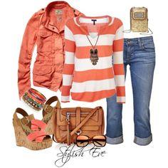 toned spring -- light spring soft -- light denim, coral, tan bag