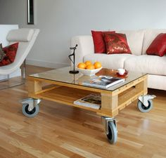 Easy move coffee table